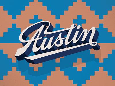 Austin southwest austin lettering