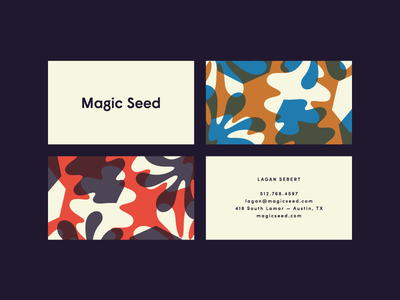 Magic Seed seed magic business card floral