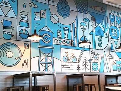 Cuvée Mural brew coffee mural