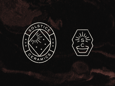Solstice Ceramics stamp monogram icon pottery