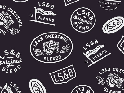 LS&B Secondary Branding tiger pennant badge logo