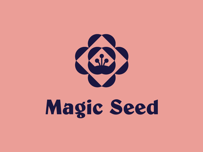 Magic Seed magic logo flower