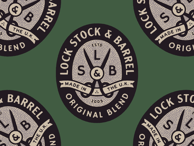 LS&B Badge u.k. scissors badge