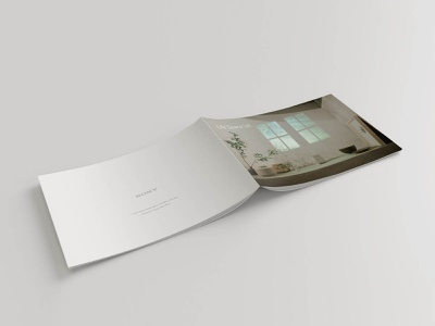 SONY Life style collection Life space UX Leaflet leaflet design leaflet editorial graphic design