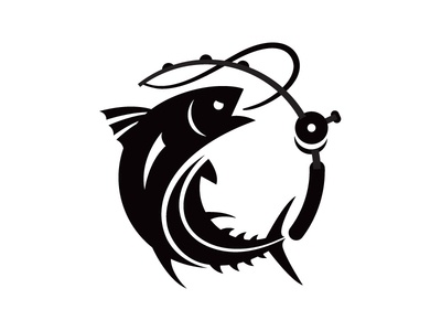 Wicked Tuna tv fish tuna logo black and white national geographic