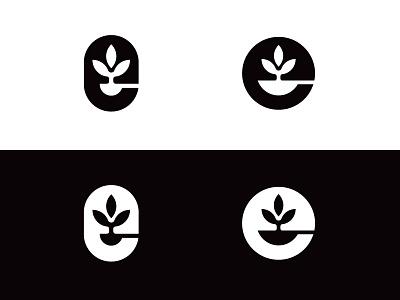 Restaurant icon e leaf spoon restaurant