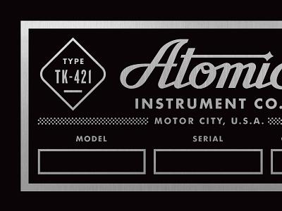 Atomic  atomic sound plate metal industrial