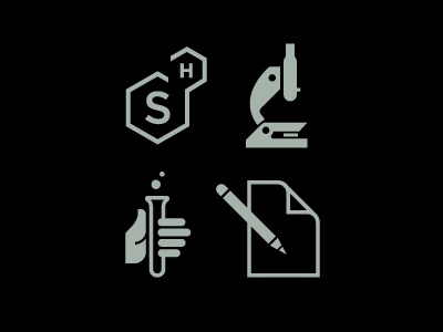 Brand icons science design