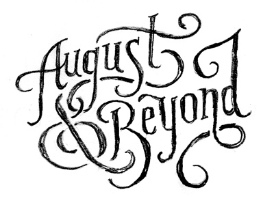 Sketch book type type hand lettering