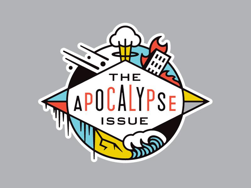 Entertainment Weekly Apocalypse Issue catastrophe disaster editorial badge atomic bomb apocalypse
