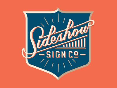 Sideshow Sign Co. sign badge 3d script custom