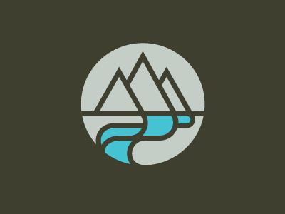 Two Rivers logo church river linear
