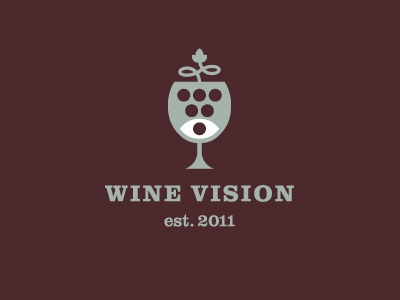 Wine Vision alcohol eye grape graphics design