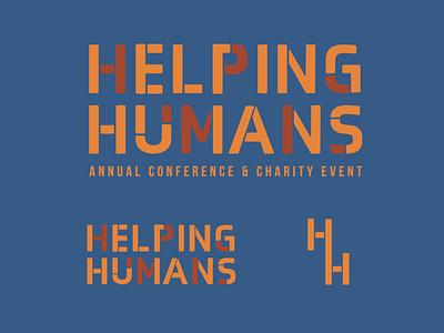 Helping Humans branding typography logo