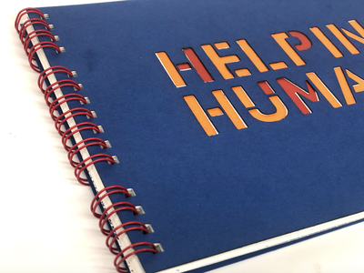 Helping Humans Brand Guide publication illustration typography branding