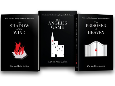 Cemetery of Forgotten Books book cover design illustration