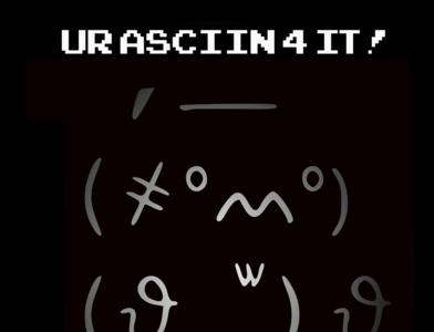 Doodle ASCII dude (found inspiration online)