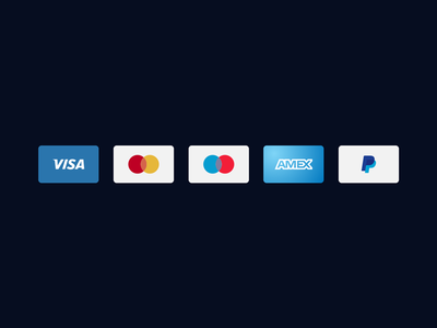 Vector credit cards icons