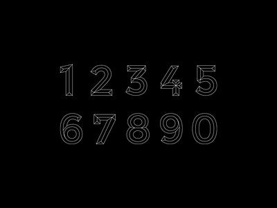 Tipóptica (Numerografía 61) @ Yorokobu spain yorokobu vector typography type design type numbers lettering graphic design