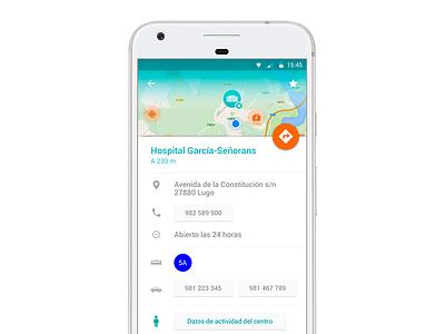 Detail medical app ux ui material design android emergency medical design app health hospital detail