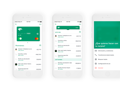 Cards transactions and actions uiux uidesign ui movement transaction scroll product android ios fintech finance app finance credit card app card banking bank appdesign app action sheet