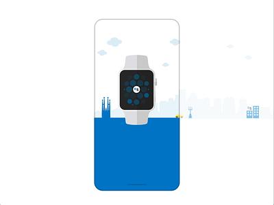 Walkthrough animate adobe xd flat design illustration motion visual watchos bank adobexd animation app ios android walkthrough design