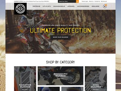 Bulletproof Landing Page store online promotions categories commerce ecommerce landing storefront motorcyle