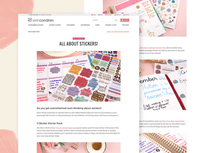 Erin Condren Inspiration Center clean blogger stationery feminine condren erin social content ui blog