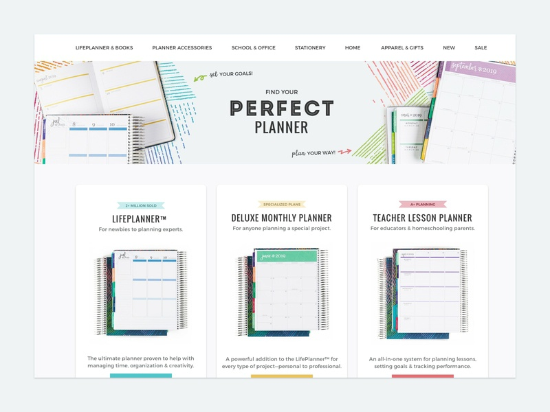 Compare Planners web feminine visual comparison columns grids shadow planner stationery condren erin ecommerce