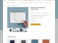 Focused Product Page product detail product page erin stationery condren store ecommerce