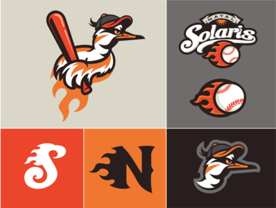 Solaris sandpiper solaris sun bird mlb logo sport illustration branding baseball