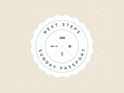 Next Steps Badge badge passport illustration vector