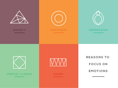 Emotion Icons emotion icons happiness anxiety anger depression illustration vector line