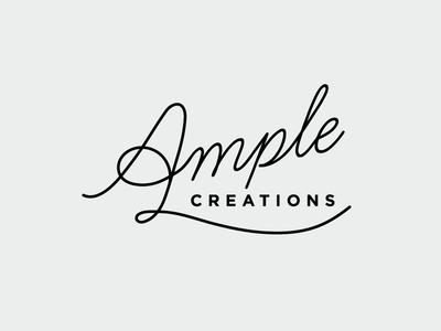 Ample Creations branding typography logo