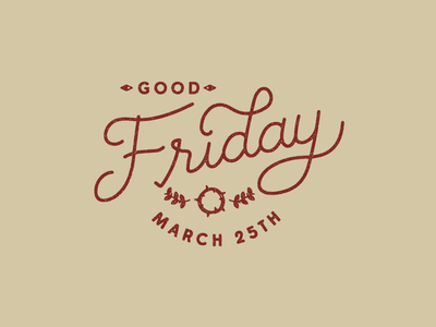Good Friday Type texture typography lettering