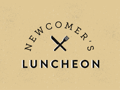 Newcomer's Lunch texture illustration knife fork typography type