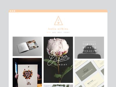 lesliewilkins.com graphic design typography logo branding update illustration website portfolio