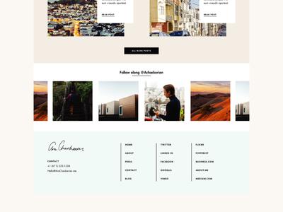 Ara Site logo branding signature minimal website footer