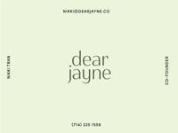 Dear Jayne-Concept 1