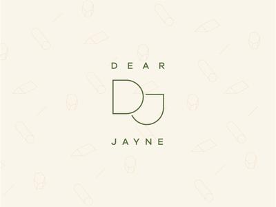 Dear Jayne | Concept 2 logomark pattern green typography branding logo