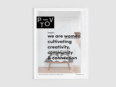 Pivot community guide membership minimal clean wip branding logo