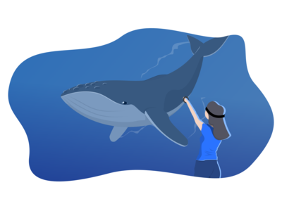 VR Whale Illustration