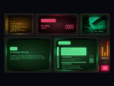 Retro VR Time Machine UI game crt outrun retro ui vr