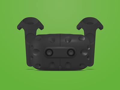 HTC Vive in Sketch vr headset vive htc illustration freebie vector