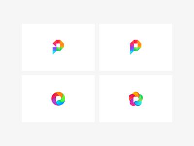 Pixelfed logo workups