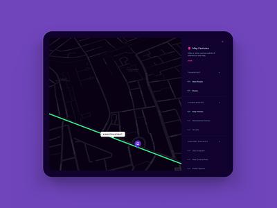 Map Explorer ui ipad menu map