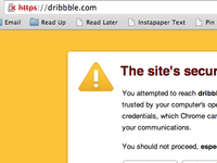 What's wrong, Dribbble?