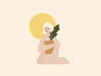 #FunWithFaces 003 naked nude sun plants illustration design illustration art illustration design color characters minimal illustrator