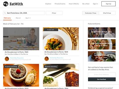 List Page Redesign list redesign design food peer to peer ui
