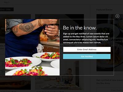 Sign Up Pop Up  pop up sign up design ui food eat simple mock